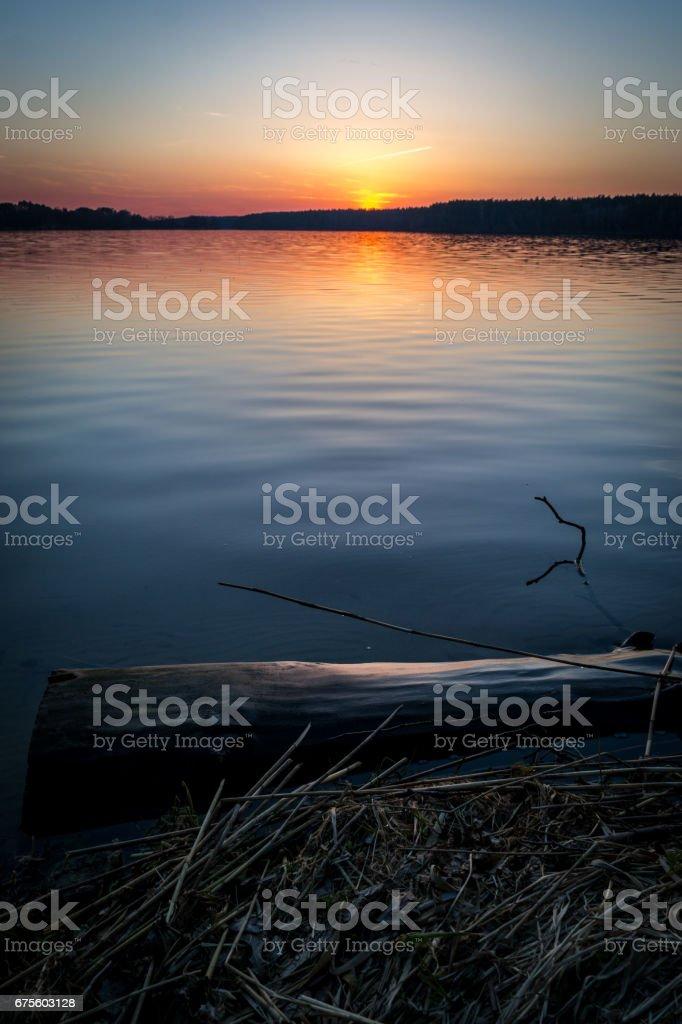 White lake foto de stock royalty-free