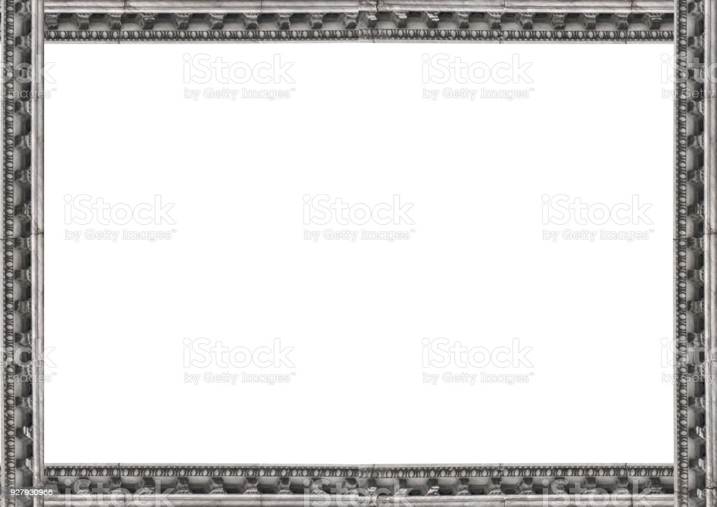 White Landscape Frame With Architectural Borders Stock Photo & More ...
