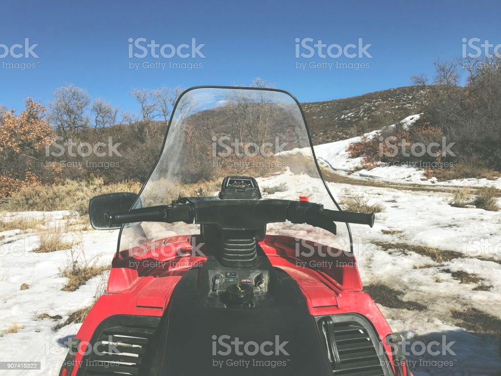 White Landscapes - High Altitude Western Colorado Winter Snowfall Mountain Panorama stock photo