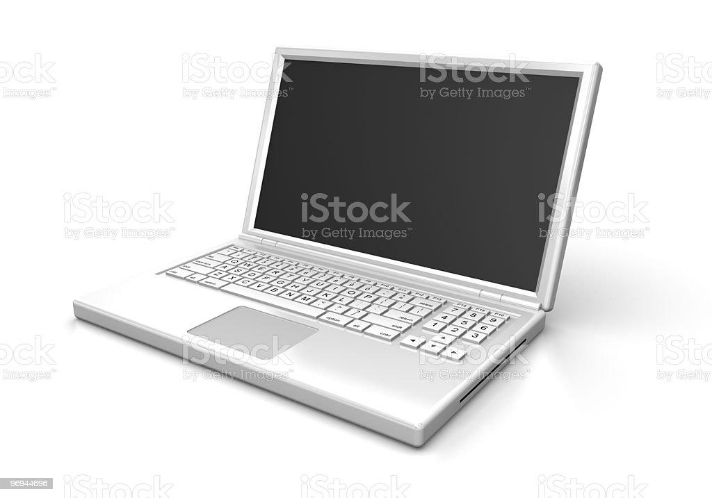 White laptop computer royalty-free stock photo