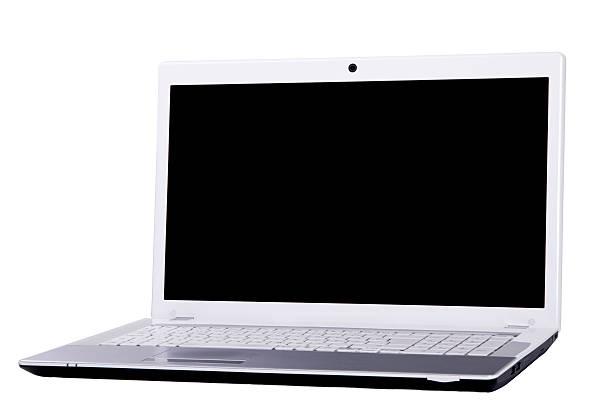 Ordenador portátil Aislado en blanco - foto de stock
