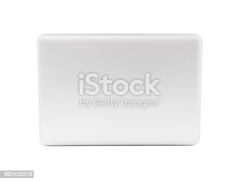 istock White Laptop with blank screen 692403316