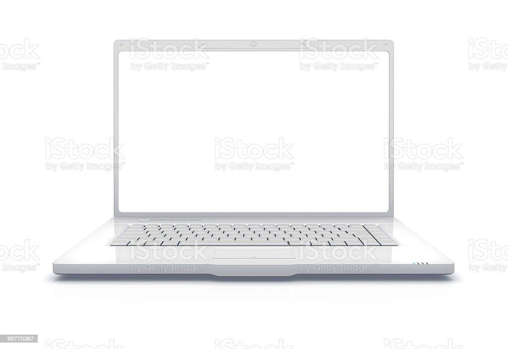 White Laptop XXXL stock photo