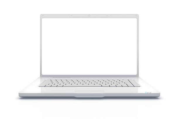 White Laptop XXXL  laptop white background stock pictures, royalty-free photos & images