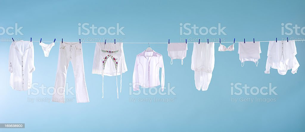 White laundry stock photo