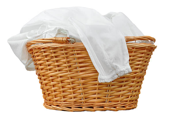 White Laundry  laundry basket stock pictures, royalty-free photos & images
