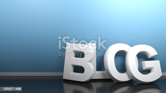 istock BLOG white leaning at blue wall - 3D rendering 1055571486
