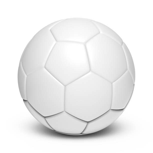 Bola de cuero blanco - foto de stock