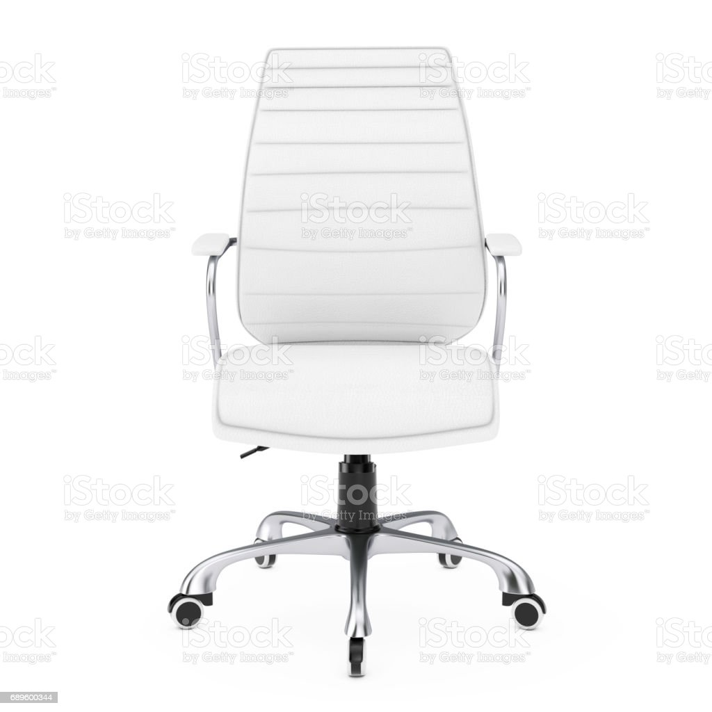 Marvelous White Leather Boss Office Chair 3D Rendering Stock Photo Download Image Now Ibusinesslaw Wood Chair Design Ideas Ibusinesslaworg