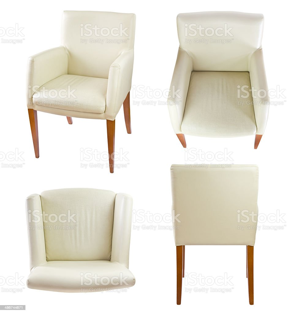white leather chair  VOL. 2 stock photo