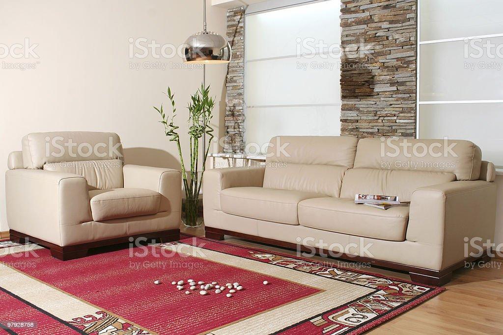 White leather furniture royalty-free stock photo