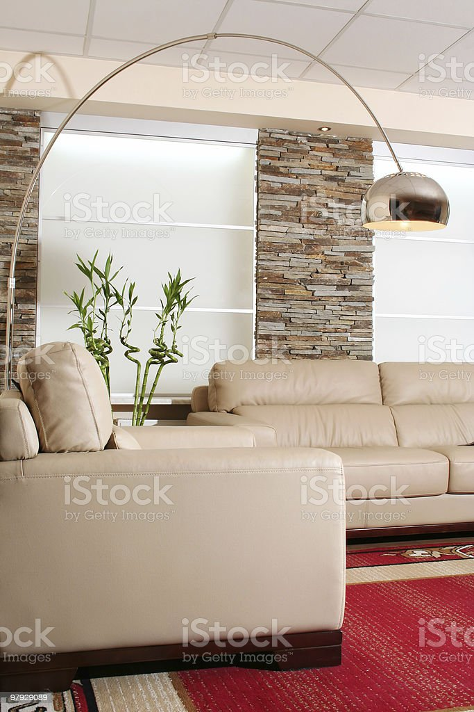 White leather furniture royalty-free stock photo