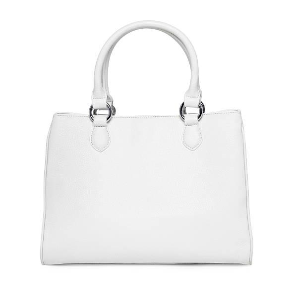 Weißes Leder-Handtasche – Foto