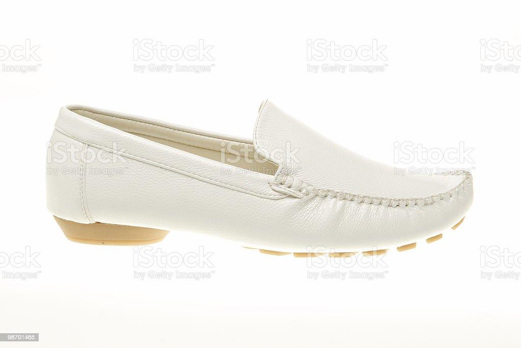 white leather shoe royalty-free stock photo
