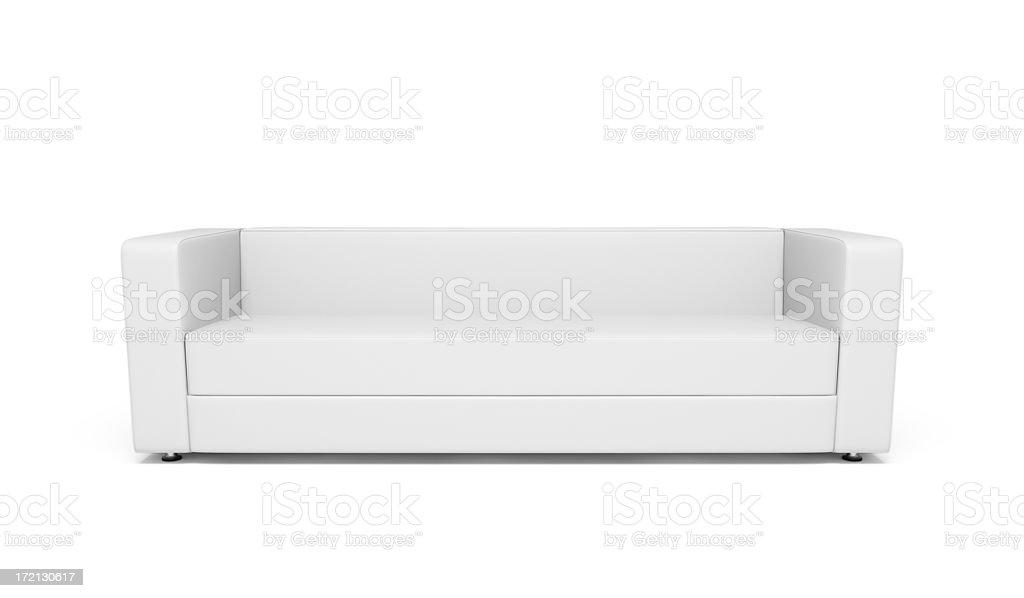 White Leather Sofa royalty-free stock photo
