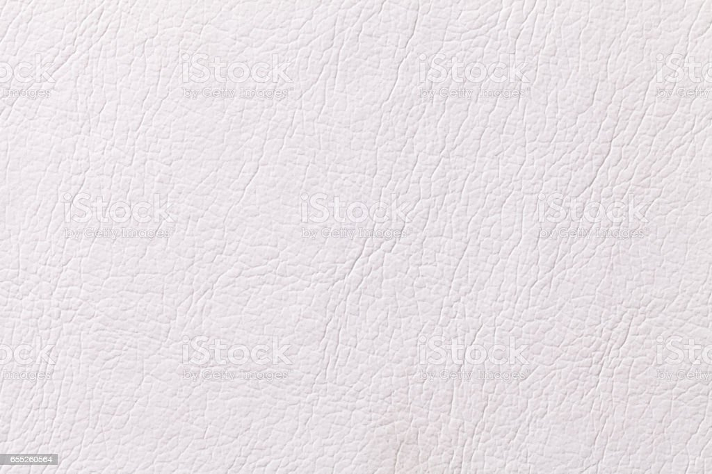 White leather texture background with pattern, closeup stock photo