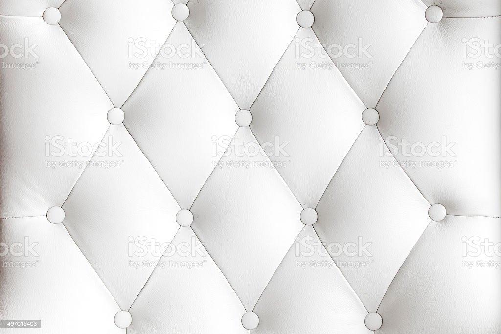 White Leather Upholstery Background stock photo
