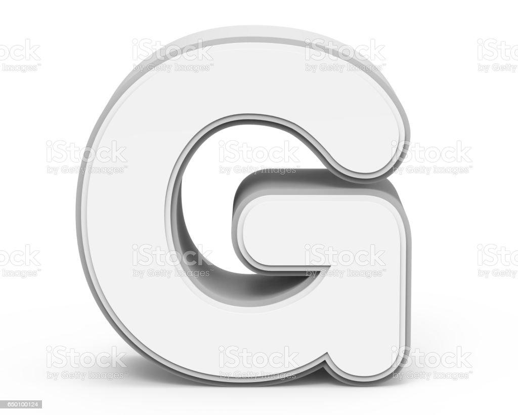 white letter G stock photo
