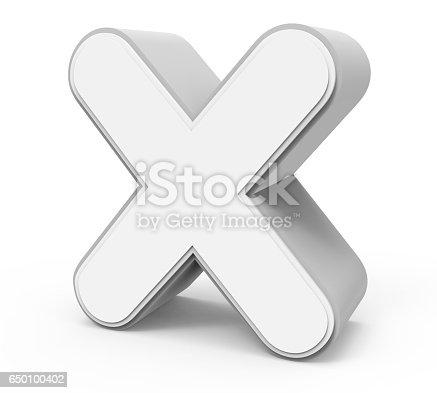 848178088istockphoto white letter X 650100402