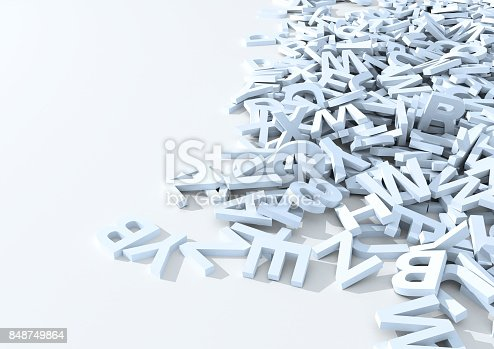 istock White letters. 3D Illustration. 848749864