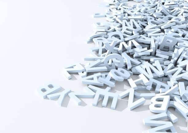 白い文字。3 D イラスト。 ストックフォト