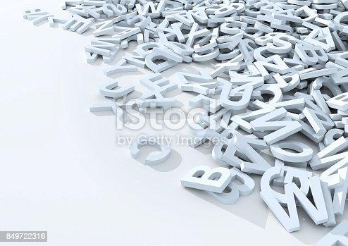 istock White letters. 3D Illustration. 849722316