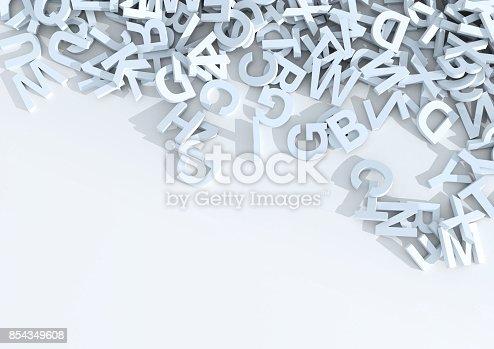 istock White letters. 3D Illustration. 854349608