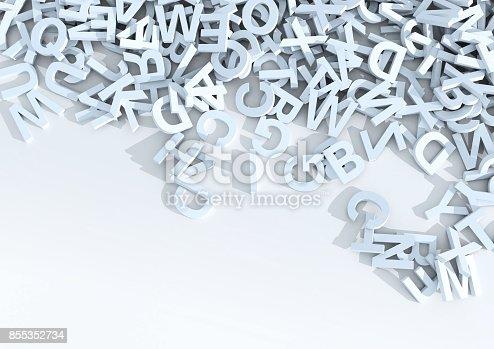 istock White letters. 3D Illustration. 855352734