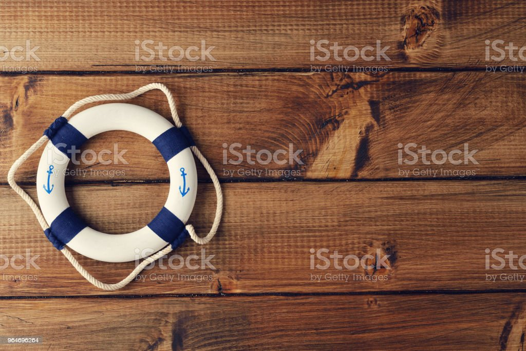 White lifebuoy royalty-free stock photo