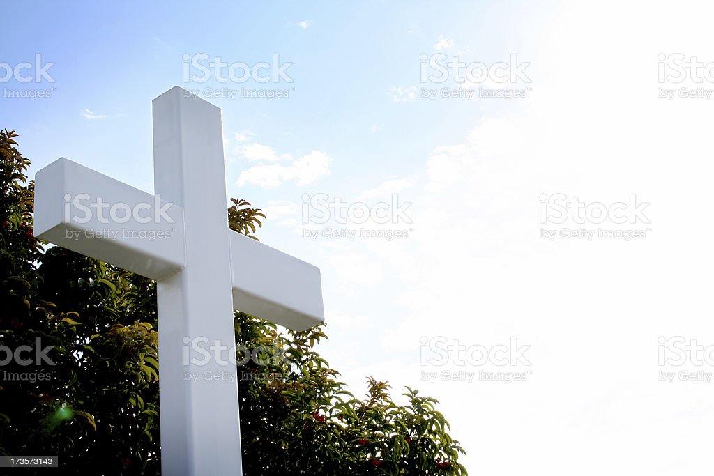 White Light Cross stock photo
