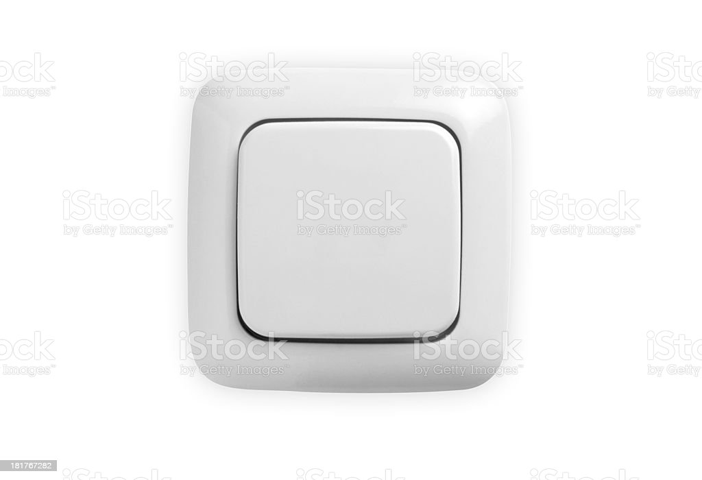 White light switch royalty-free stock photo
