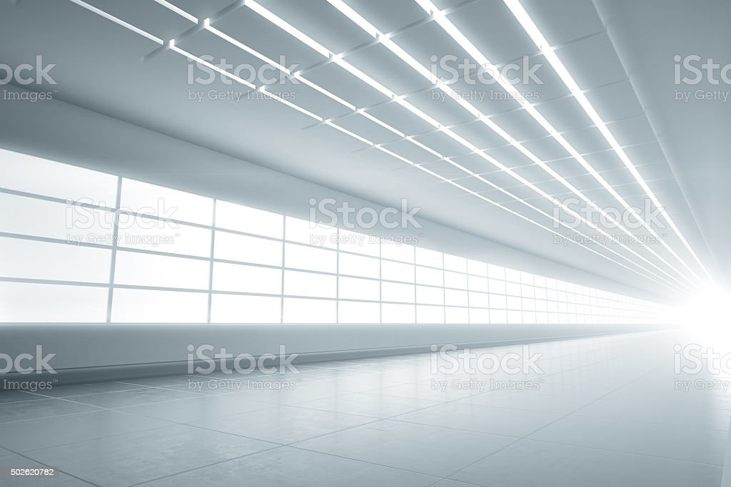 White light tunnel car background stock photo