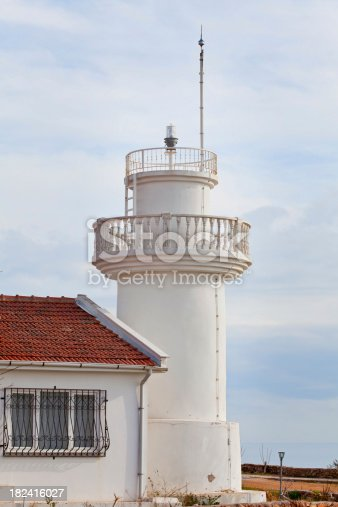 182421396 istock photo White Lighthouse 182416027