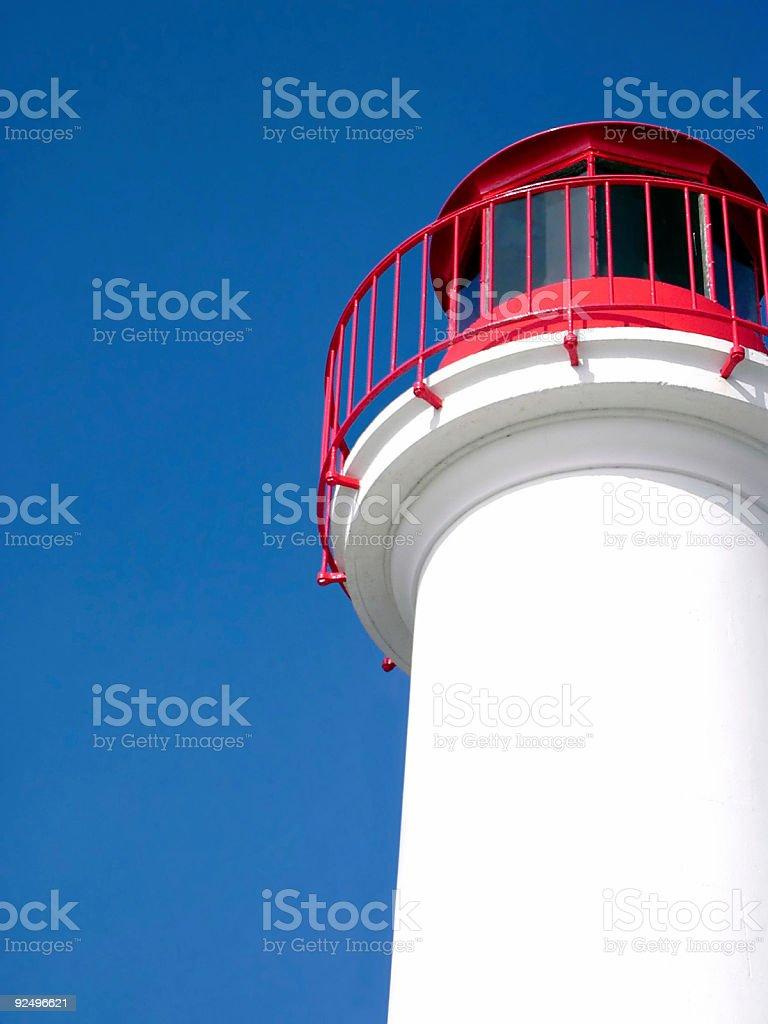 White lighthouse royalty-free stock photo