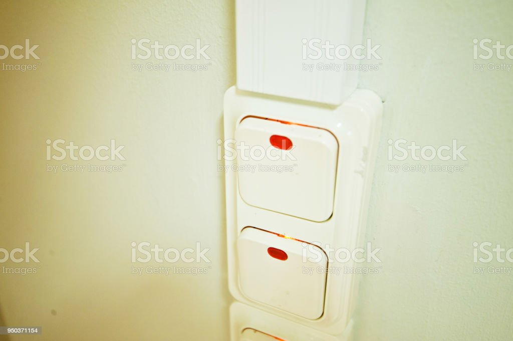 White Lighting Control Switch With Led Indicator Stock Photo & More ...