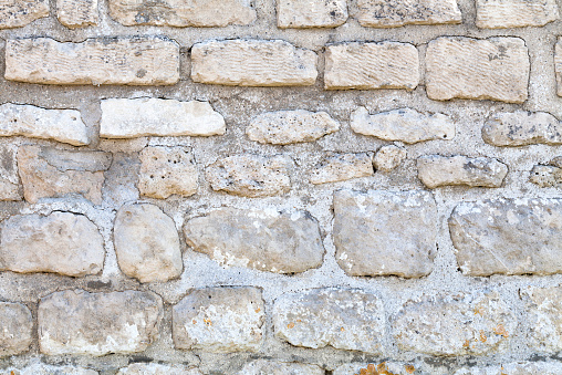 White Limestone Wall Stock Photo - Download Image Now