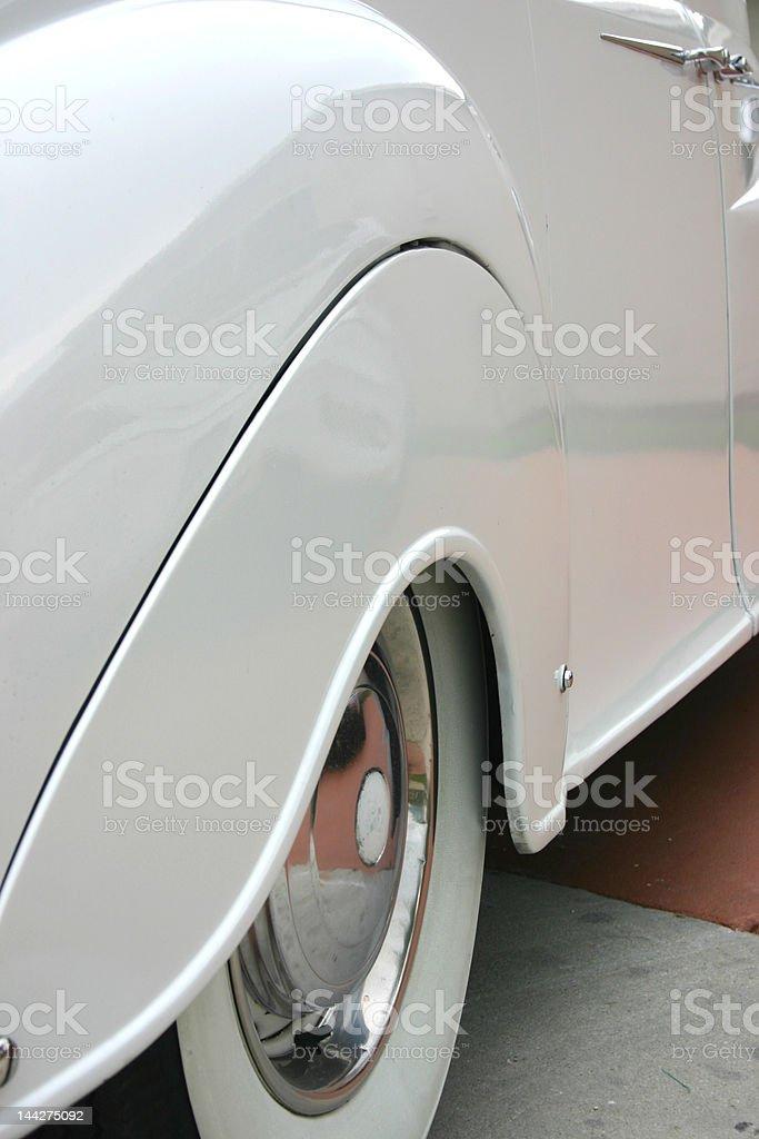 White Limousine royalty-free stock photo