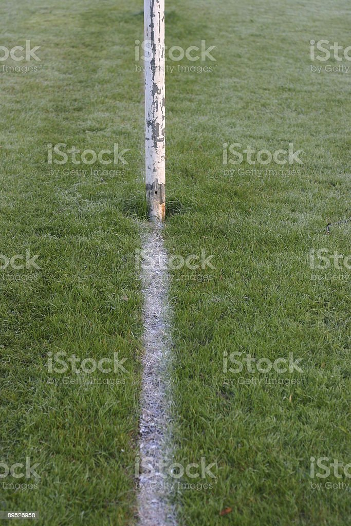 White line on a playing field royalty-free stock photo