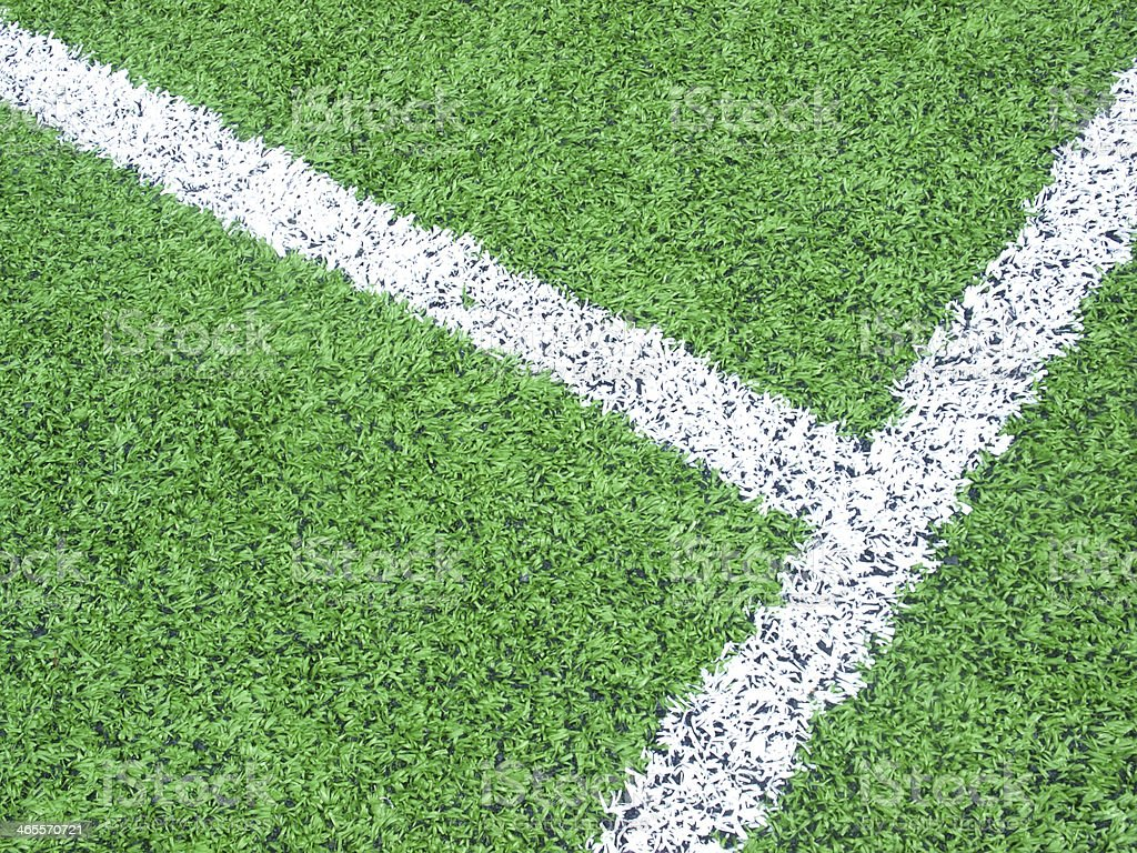white line on field royalty-free stock photo