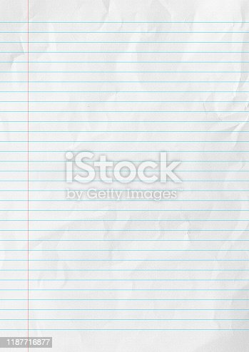 istock White lines paper school background. 1187716877