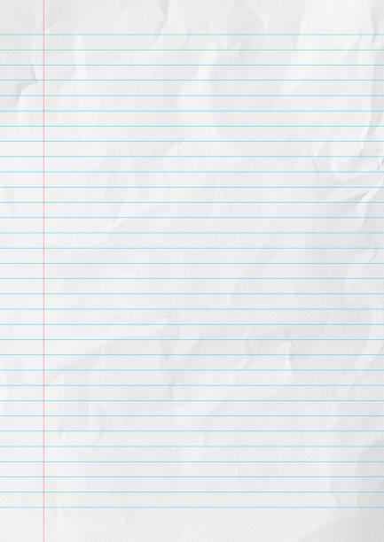 białe linie papieru tła szkoły. - notes zdjęcia i obrazy z banku zdjęć