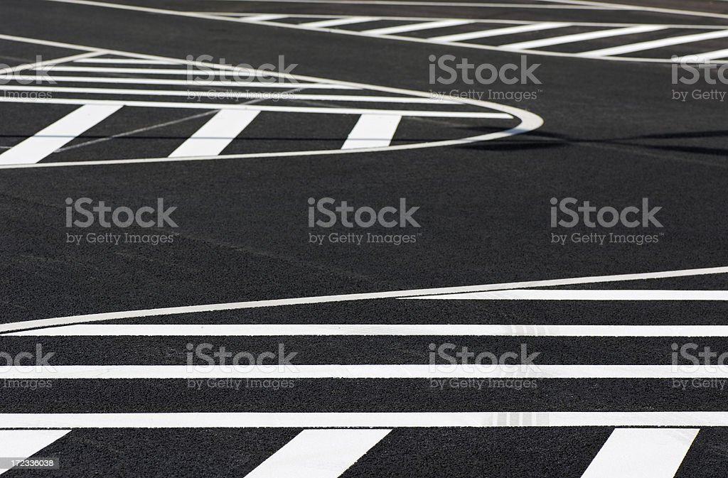 White lines / road marking royalty-free stock photo