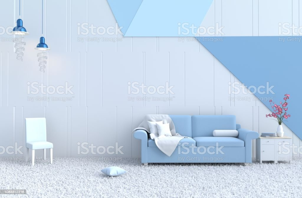 Terrific White Living Room Decor With Blue Sofa Whiteblue Wall Orchid Gamerscity Chair Design For Home Gamerscityorg