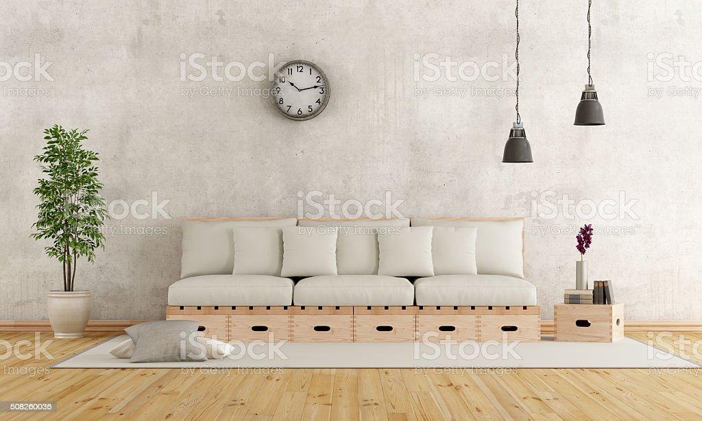 Weiss Wohnzimmer In Rustikalen Stil Stock Fotografie Und Mehr Bilder