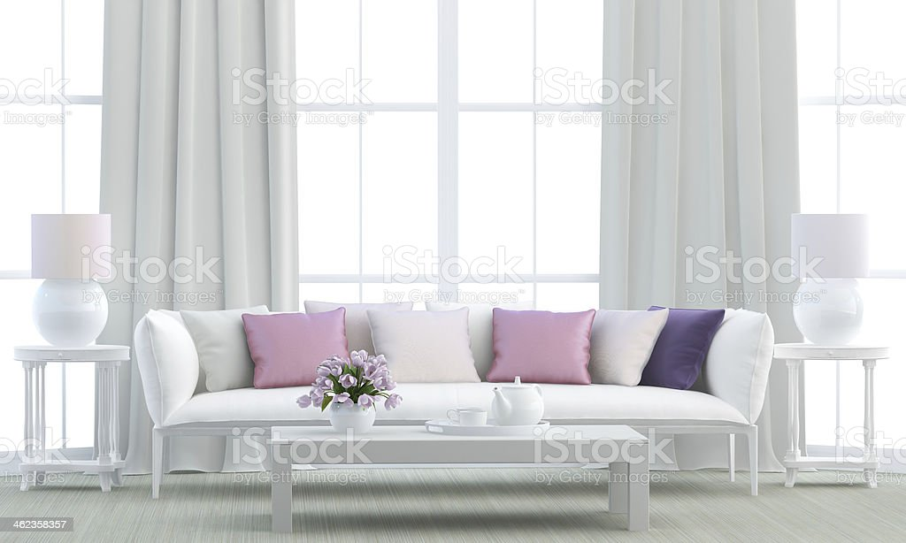 White living room stock photo