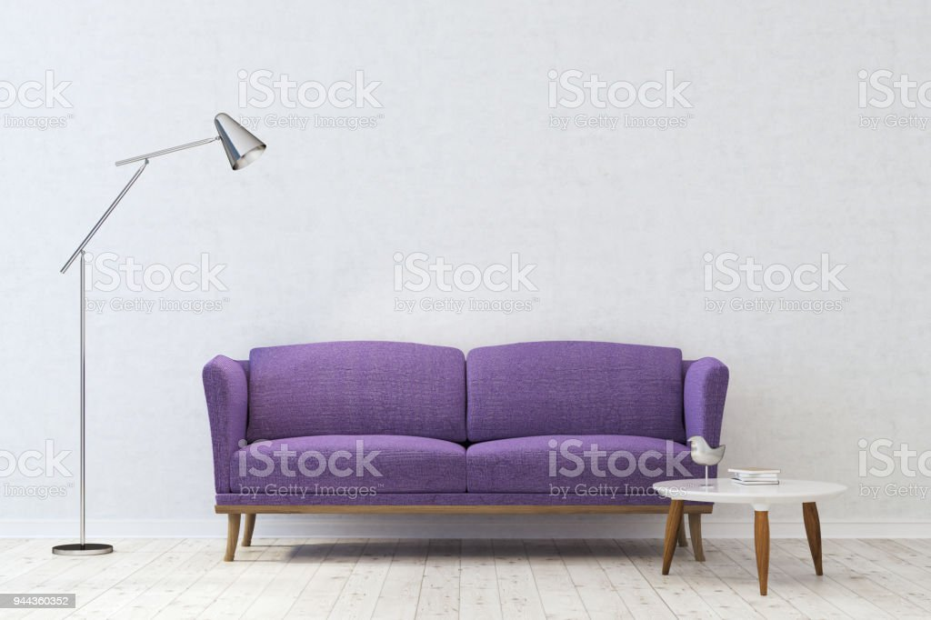 Magnificent White Living Room Purple Sofa Stock Photo Download Image Gmtry Best Dining Table And Chair Ideas Images Gmtryco