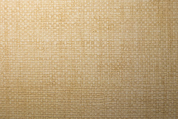 white local woven papyrus wallpaper - halmslöjd bildbanksfoton och bilder