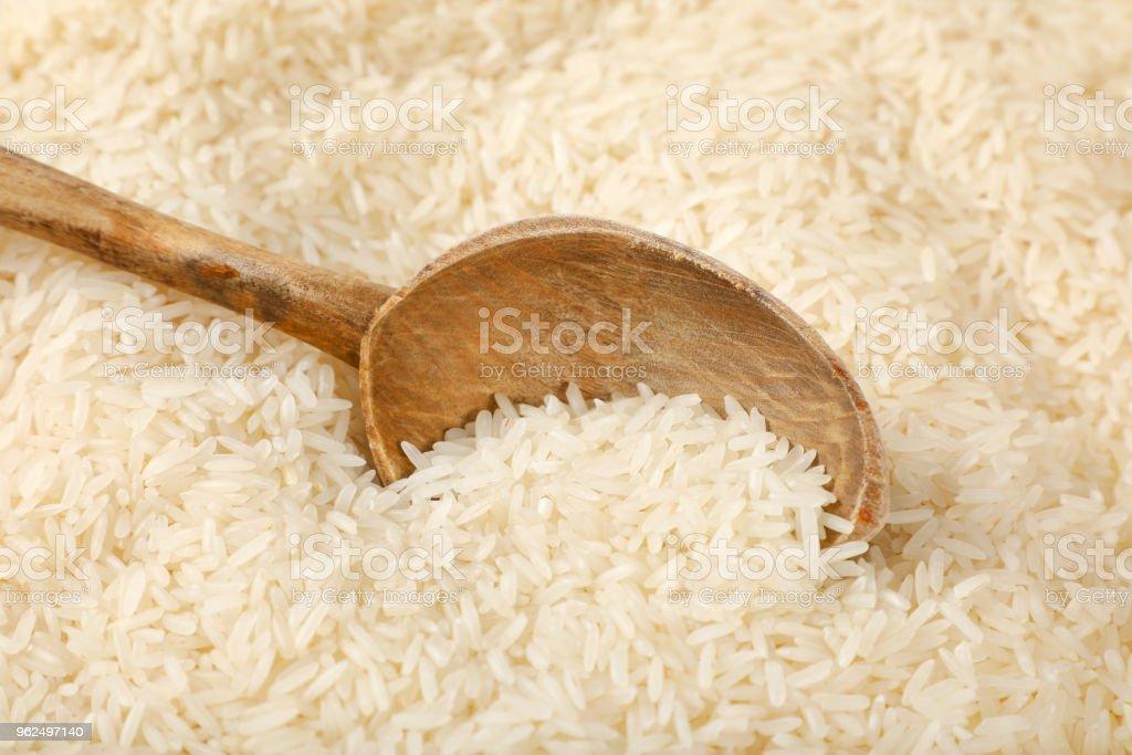 arroz de grão longo branco - Foto de stock de Arroz - Alimento básico royalty-free