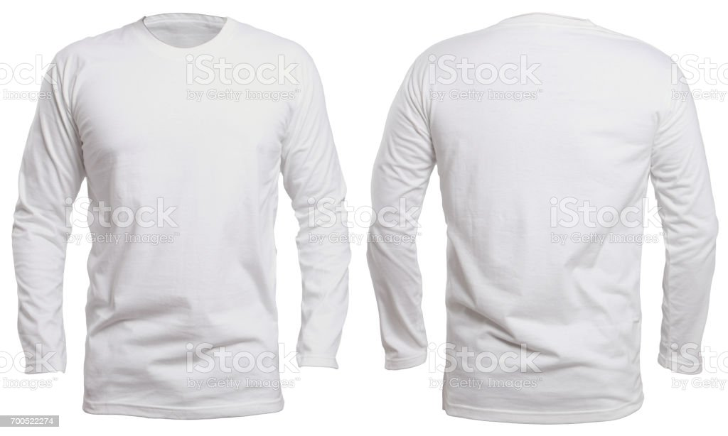 fab07f516 White Long Sleeve Shirt Mock Up Stock Photo & More Pictures of ...