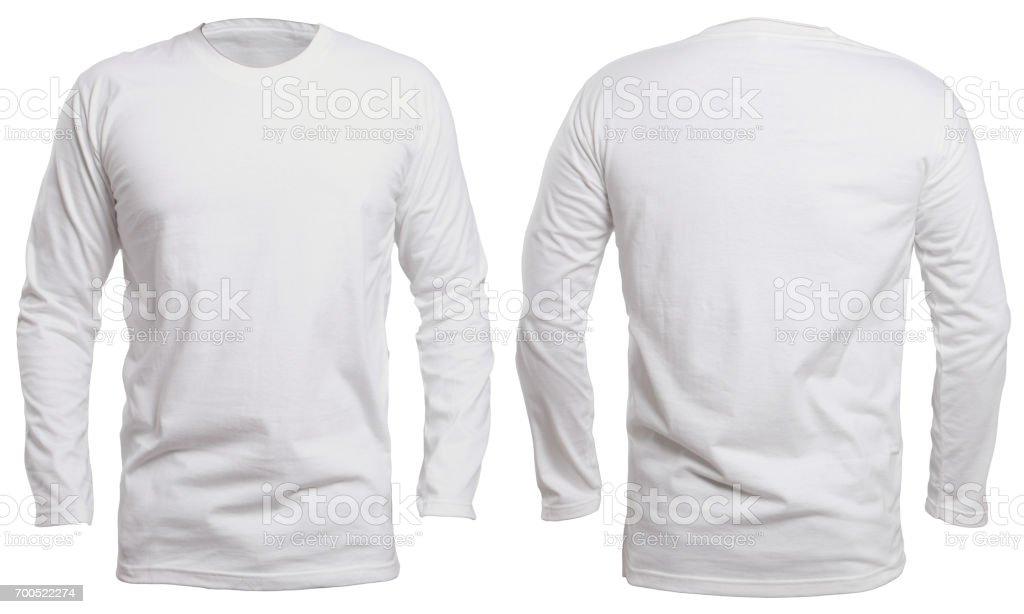 White Long Sleeve Shirt Mock up stock photo